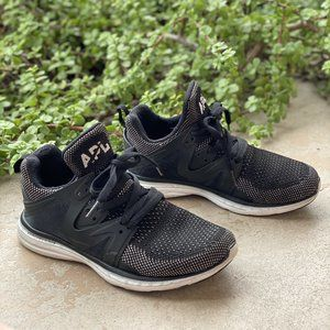 APL Ascend Black Mesh Running Shoes Sneakers